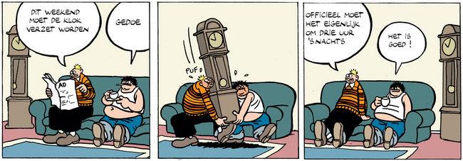 Cartoon - Klok verzetten Zomer/Winteruur